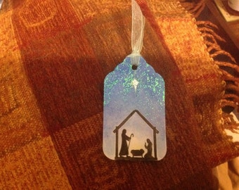 Handmade Nativity Scene Christmas Tags - Set of 6