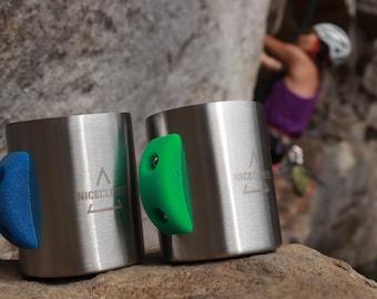 Stainless Steel Rock Climbing Coffee Mug