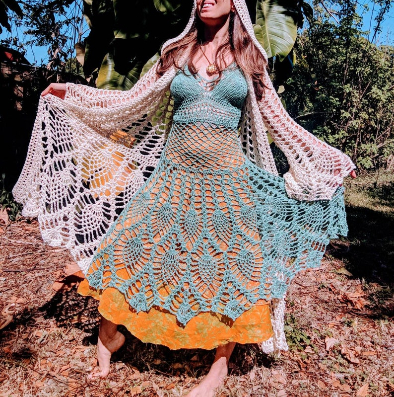Pineapple crochet  PDF download 2 patterns Fairy Queen Coat and Fairy Dress Pattern Pack