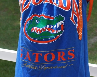 University of Florida UF Gators Upcycled Womens Tank Pillow Case Top Shirt Size xs, S, M, L, XL
