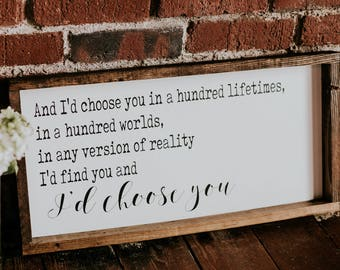 I'd choose you - farmshiusenstyle, rustic decor, F. Scott Fitzgerald