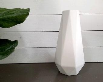 Modern White Vase Etsy