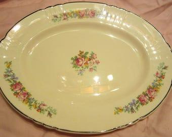 Antique Myott Staffordshire Oval Plate Art Deco 1950s