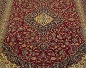 Amazing 13x10 ft Large rug,oversize rug, Vintage rug, Floral rug,oriental rug, wool rug, handMade rug, handknotted rug, Golden carpet 9.8x12