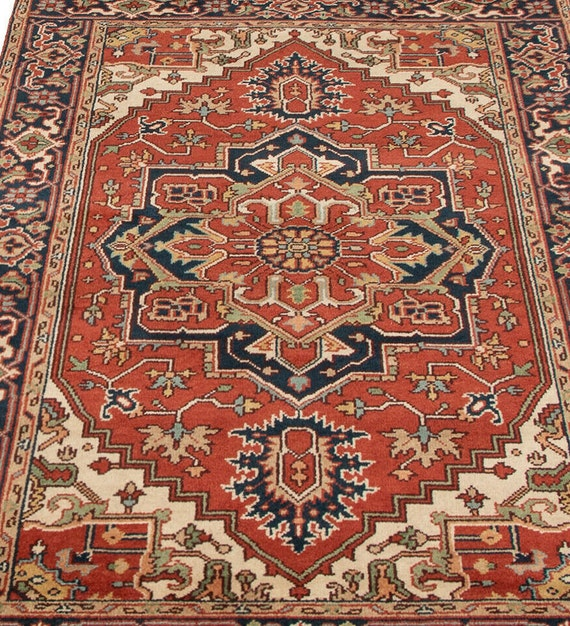 Gorgeous 8x5 Feet Oriental Rug Dark Rust Copper Red Rug Etsy