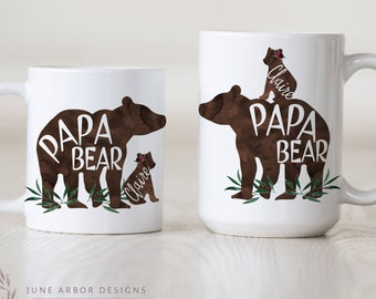 Papa Bear with Cub | Papa bear Baby Bear | PapaBear Mug | Dad Mug | Bear Cub | Bear with Cubs Mug | Daddy Bear | Dad Gift | dad to be