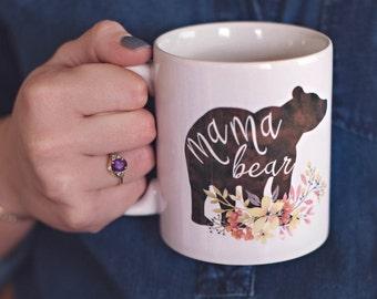 Mama Bear Mug   Mamma Bear   Mom Coffee Mug   Mug for Mom   11oz  or 15 oz  Coffee Mug   Mom Life   Baby Shower Gift   Pregnancy Reveal Mug