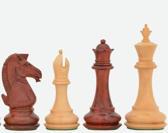 New Double Weighted Chess Set Staunton Bud Rose Wood 4 Queens.SKU: VJ015