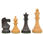 Reproduced 1941 Liberty Chess Set Small Club Size in Stained Jet Black Box wood SKU S1262