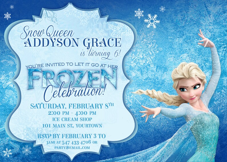 picture relating to Printable Frozen Invitations called FROZEN Themed Bash Invites, Printable PDFs, Elsa and Anna