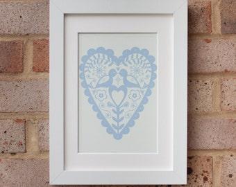 Winter Love Birds - Giclée Print