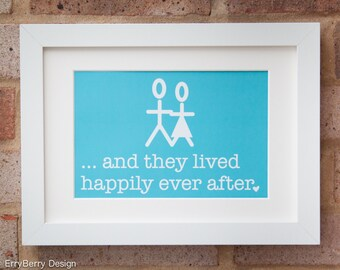 Happily Ever After, Mr & Mrs - Giclée print