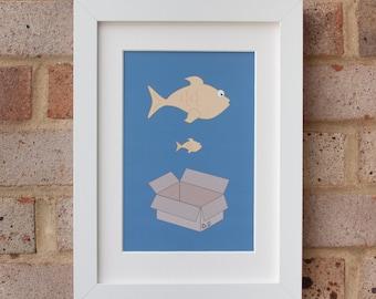 Big Fish, Little Fish - Giclée print