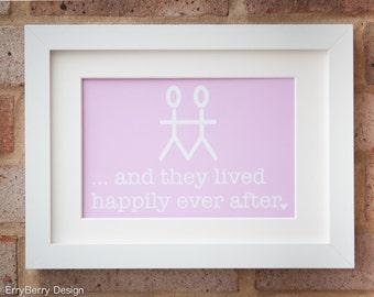Happily Ever After, Mr & Mr - Giclée print
