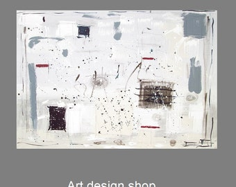 Original painting on canvas, modern abstract art, acrylic abstract painting, painting canvas, modern art canvas, contemporary wall art, grey