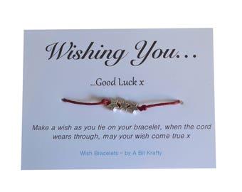 Wish Bracelet by A Bit Krafty, Wishing You...Good Luck - Good Luck Gift - Charm Bracelet - Wish Bracelet