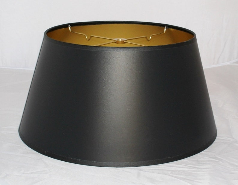 Satin Black Parchment Paper Plug In Pendant Light Drum Swag Lamp Chandelier Mid Century Hanging Lamp Vintage Antique Retro USA Made 10-18W