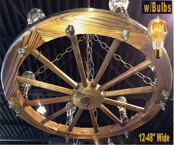 Vintage Wagon Wheel Chandelier Shades of Light   Wagon