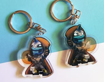 Destiny 2: Cayde-6 Double-Sided Charm Keyring Ghost RPG Shooter