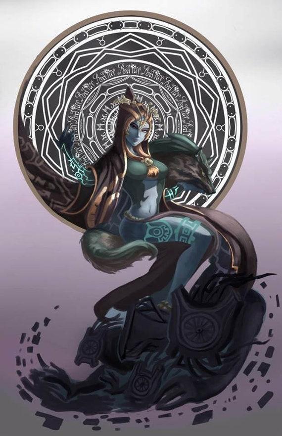 Legend Of Zelda Twilight Princess Midna Poster Print