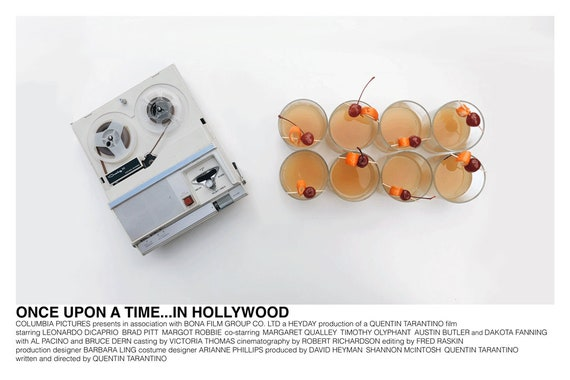 ONCE UPON A TIME IN HOLLYWOOD RICK DALTON MOON NEBRASKA JIM TEXTLESS FILM POSTER