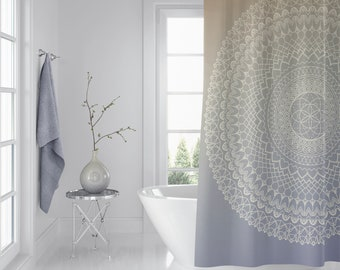 Lavender Cream Mandala Shower Curtain