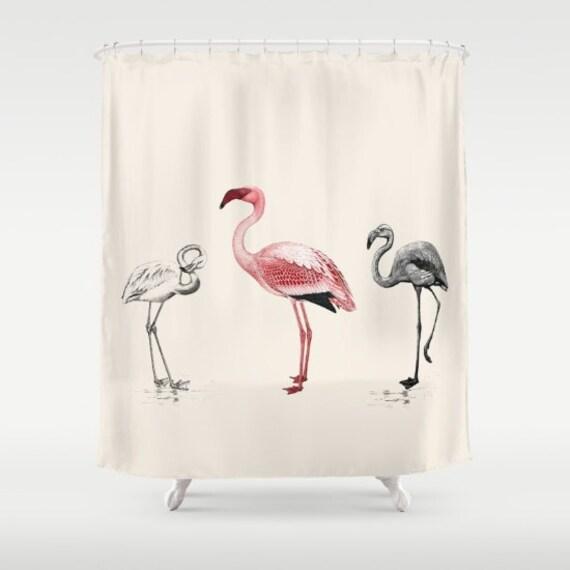 Pink Flamingo Shower Curtain The Tres Flam Igos