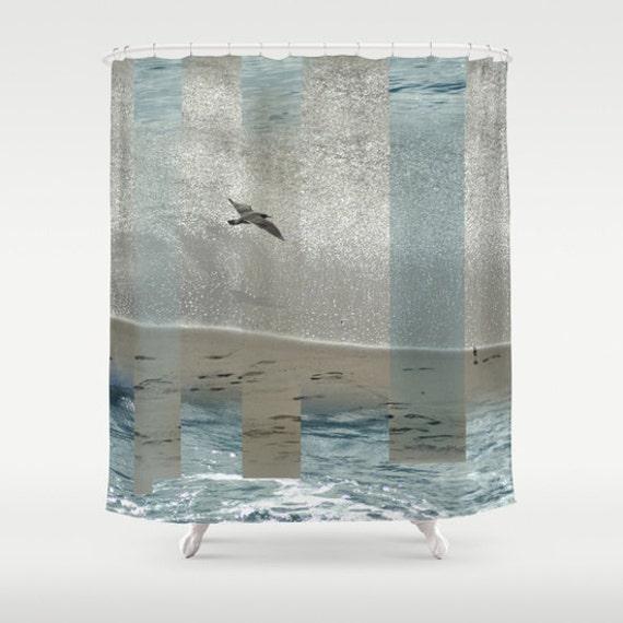 strand dusche vorhang geometrische seev gel wave fotografie. Black Bedroom Furniture Sets. Home Design Ideas