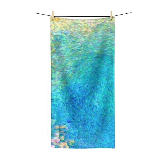 97c2cdaed Coral Reef Artistic Towel - polycotton, coastal bathroom decor