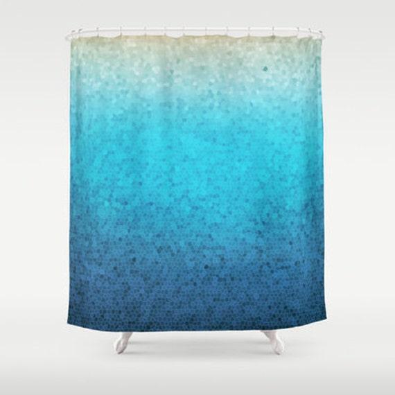 Ombre Stoff Duschvorhang Meer-Glas-Mosaik Teal Aqua blau   Etsy