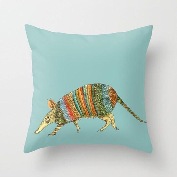 Armadillo Pillow Throw Pillow desert