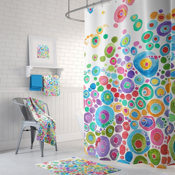 image 0 - Colorful Shower Curtains