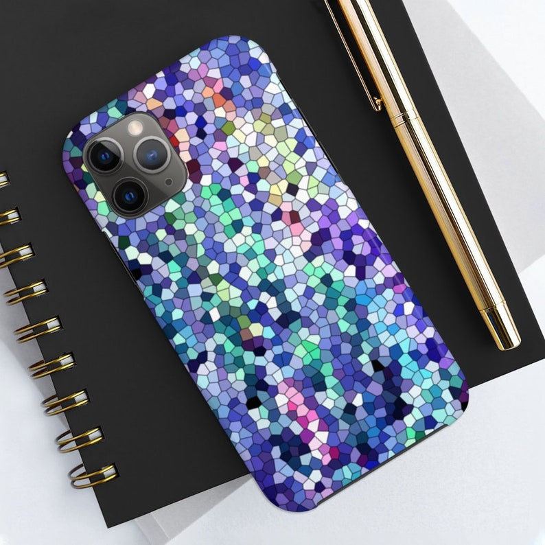 Sapphire Mosaic Case Mate Tough Phone Cases blue jewel tone