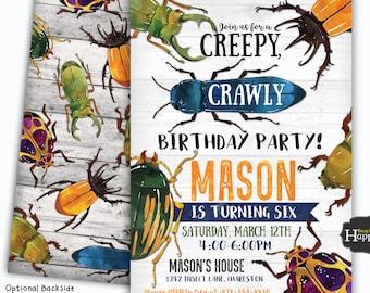 Bug Party Invites
