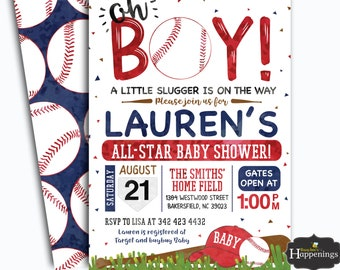 baseball baby shower invitations etsy