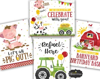 Farm Birthday Party Etsy