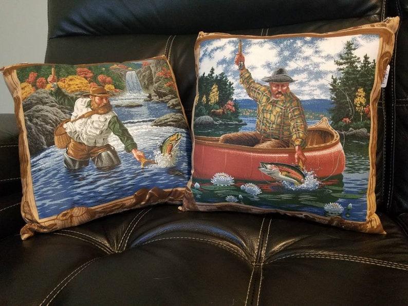 Peachy Fishing Throw Pillows Man Cave Stuff Pdpeps Interior Chair Design Pdpepsorg
