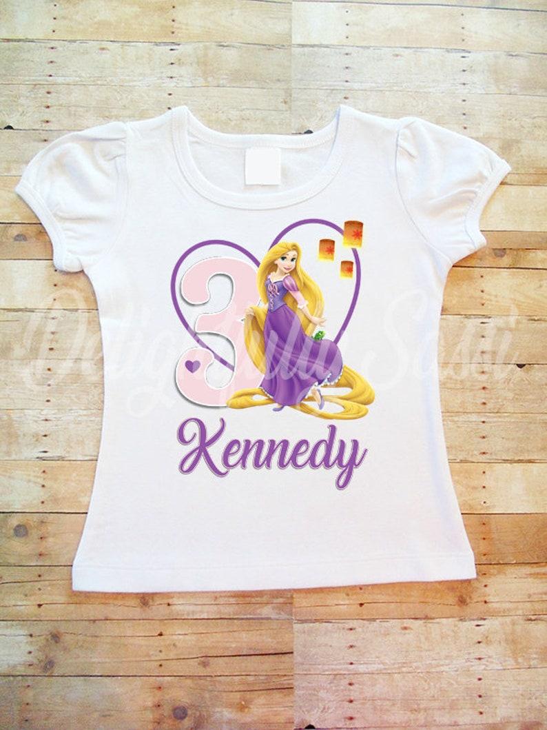 Rapunzel Birthday Shirt Personalized