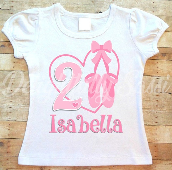 138a286ca15c Ballerina Birthday Shirt Ballerina Birthday Girls Birthday