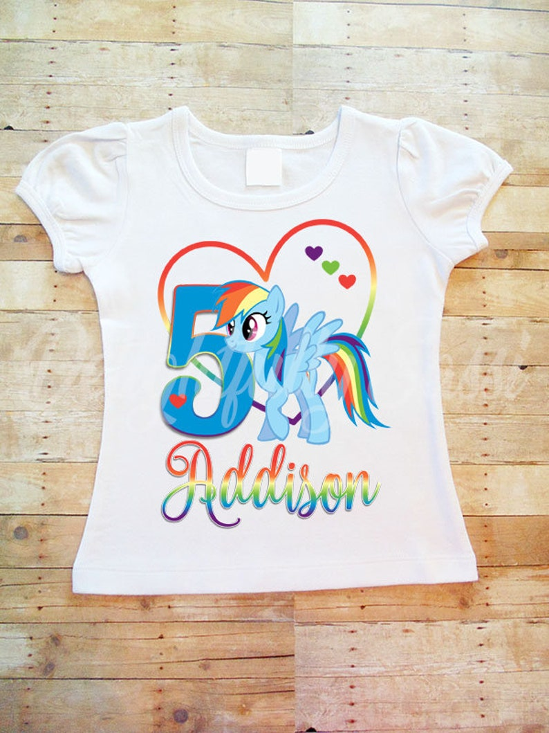 Pony Birthday Shirt Rainbow Dash Personalized