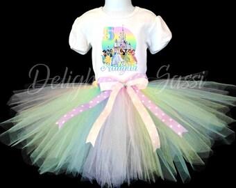 Princess Tutu, Princess Birthday Tutu, Princess Tutu Set, Princess Outfit, Birthday Outfit, Birthday Tutu, Pastel Tutu