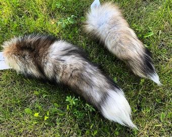 Crystal fox tail keychain