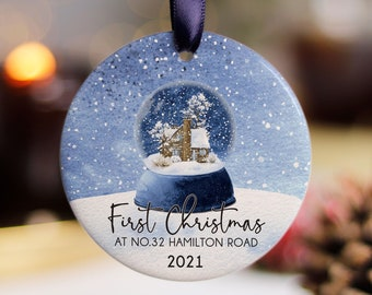 First Christmas In New Home Ornament, Our First Home Family Ornament, Custom New House Ornament, Christmas Family Bauble Decoration 2021