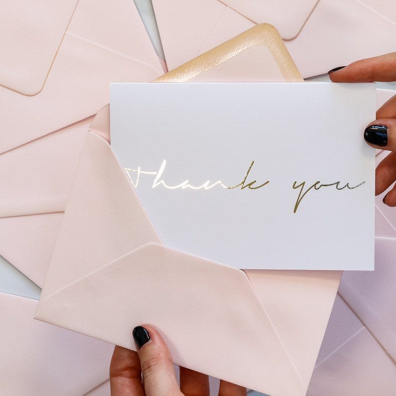 Wedding Thank You Card Foil Thank You Card Thank You Card Wedding Card Foil Card