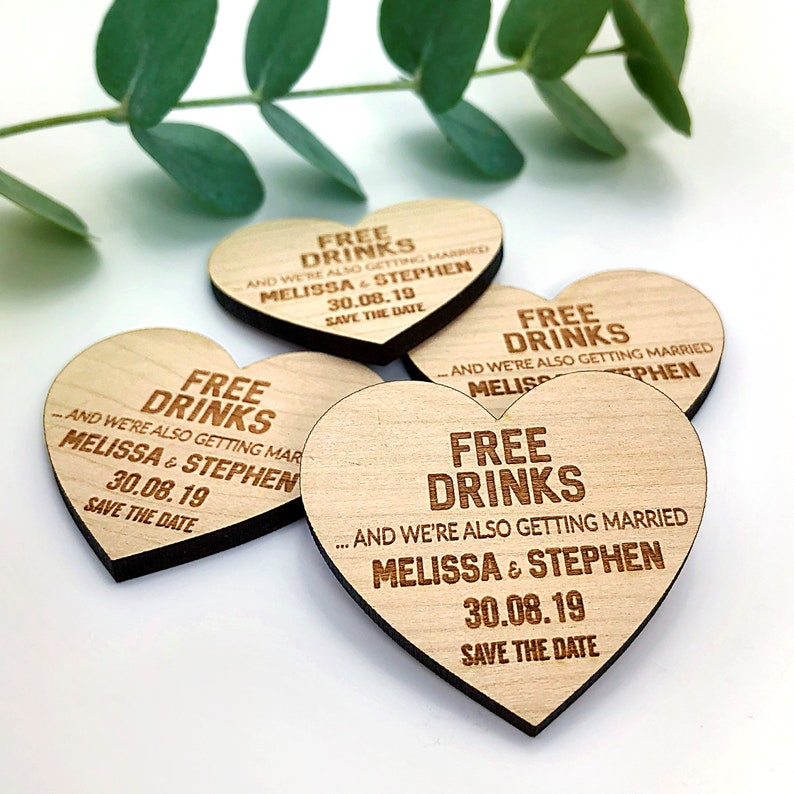16d6b5d7a0dc5 Save the Date Magnet, Wedding Invitations, Wooden Rustic Funny Save the  Date Heart, Spring Summer Wedding Invites, Boho Wedding Announcement