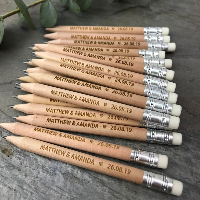 Pencil Us In Wedding Invitations Rustic Save The Date Cards Pencils Only