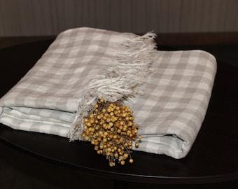 Soft linen blanket, throw, bed cover - 100% linen
