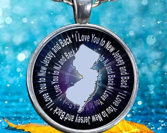 Pendant Necklace - I Love You to New Jersey and Back Necklace