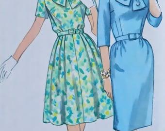 """Simplicity 4783, Sz 16, Bust 36, 1960s Vtg Dress Pattern, Uncut, """"Slenderette"""""""