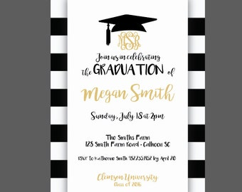 Graduation invitations etsy popular items for graduation invitations filmwisefo
